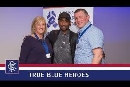 Defoe meets True Blue Heroes